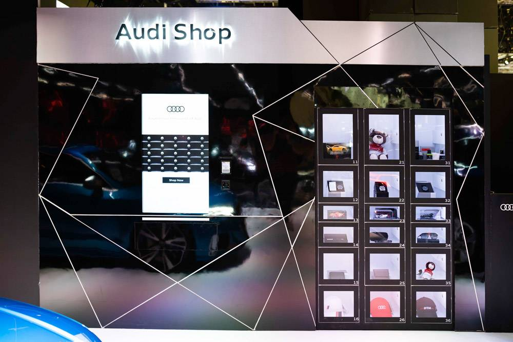 Audi showcase with gift to win